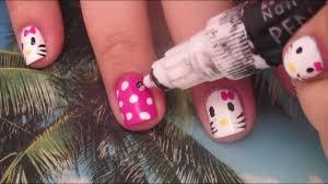 Nail Art Designs - hello kitty nail art for short nails tutorial
