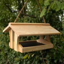 wooden bird feeders
