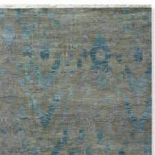 deep sea ikat hand knotted rug swatch 18x18