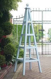 wooden garden planters obelisk trellis