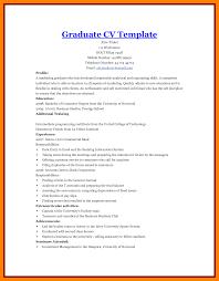 8 Postgraduate Cv Template Quotation Samples