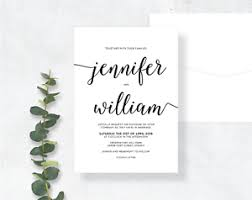 Sample Of Weeding Invitation Details About Sample Wedding Invitation Elegant Modern Black White Calligraphy Simple Rustic