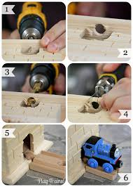 diy castle for wooden trains play trains play trains