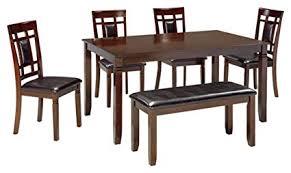 Dining room table bench Tall Image Unavailable Amazoncom Amazoncom Ashley Furniture Signature Design Bennox Dining Room
