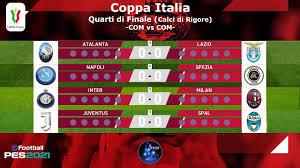 PES 2021 • Quarti di Finale di Coppa Italia 2020/21 • Calci di Rigore • COM  vs COM - YouTube
