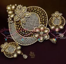 ps8814 latest designer jewellery kundan big pendant antique imitation collections