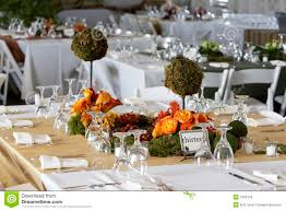 Dining Table Set For A Wedding Or Corporate Event Royalty Free