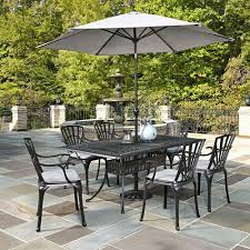 Patio furniture dining sets with umbrella Dining Room Home Styles Largo 7piece Outdoor Patio Dining Set With Umbrella And Gray Cushions Home Depot Home Styles Largo 7piece Outdoor Patio Dining Set With Umbrella And