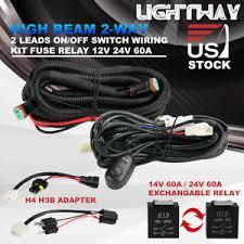 dt wiring harness kit fuse 60a 12v 24v for spotlight led driving np300 spotlight wiring harness image is loading dt wiring harness kit fuse 60a 12v 24v