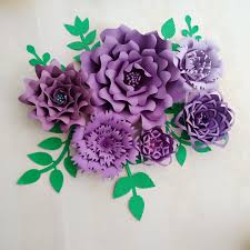 Flowers Templates Us 39 2 20 Off Ready Giant Paper Rose Flower Templates With Tutorial For Wedding Backdrop Baby Nursery Fashion Trade Show With Leaves In Artificial