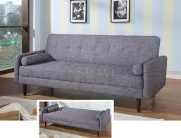 Convertable Beds Modern Fabric Sofa Bed Convertible Kk18 Grey