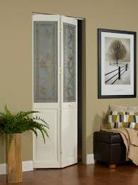 decorative ive vine tuscany glass bifold door