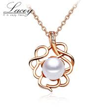 2019 rose gold pearl pendant necklace jewelry pearl chain necklace pendant jewelry 925 sterling silver for women from watchesgreat 19 94 dhgate com