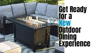 napoleon victorian patioflame rectangular fire pit table