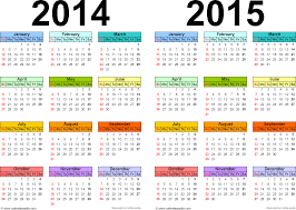 School Calendar Template 2015 2020 2014 Yearly Calendar Calendar 2014 2015 Printable One Page