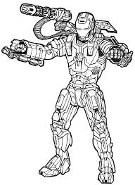 Small Picture Marvel Iron Man Coloring Pages From The MovieIronPrintable