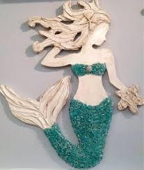 mermaid wall art wooden mermaid wall decor outdoor metal mermaid wall art