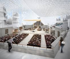 this rendering shows the sanctuary of christ cathedral the roman catholic diocese of orange in garden grove calif unveiled design plans for the christ