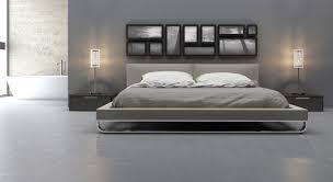 bedrooms  modern mid century platform bed modern king size