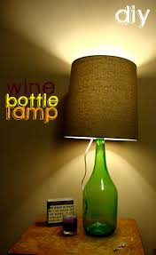diy wine bottle lamp
