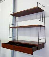 vintage whb wall shelving unit in wood and metal 1960 previous next