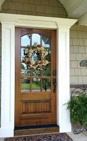 stained front door interior wood 3 4 arch lite mahogany mahoga stained glass front