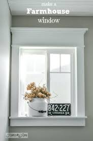 adding a window to a wall make a farmhouse window add window trim to beef up adding a window to a wall
