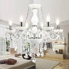 european white crystal chandeliers modern led chandeliers for living room res de sala de cristal wedding decoration lighting antler chandelier