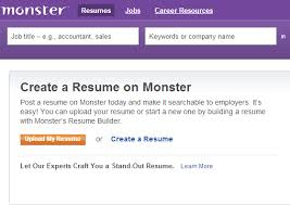 monster upload resume