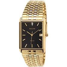 gold coloured rectangular brass case accurist men s diamond set gold coloured rectangular brass case accurist men s diamond set watch
