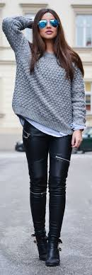 25 style ideas on how to wear leather pants 1 of 25 these