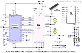 building the i2c smart dc motor controller atmel avr the following is a simplified version of the i2c smart dc motor controller electronic schematic used in this project