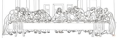 Small Picture The Last Supper by Leonardo da Vinci coloring page Free