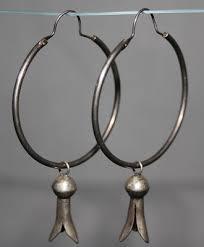 circa 1940 s hoop earrings with squash