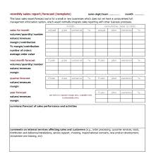 Business Monthly Sales Report Template Excel Format Sample