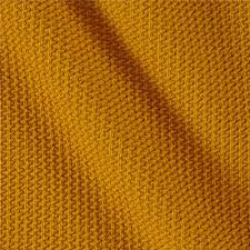 Designer Knit Fabric By The Yard Telio Paola Pique Knit Mustard