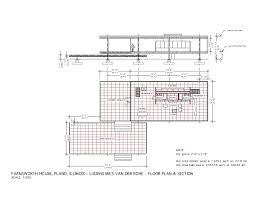 Mies Van Der Rohe Brick House Plan Liveideas Co. Farnsworth House Floor  Planhousehome ...