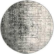 popular 8 ft round area rugs within safavieh retro black grey x rug ret2770 9079
