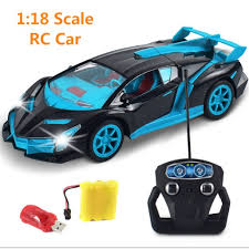 1/18 Drift Speed King Radio 4 channel Remote Control Cars with magical light RC Sport Racing Car self control Best Game Toys-in from Toys \u0026 Hobbies