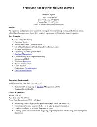 Cover Letter Front Desk Receptionist Resume Sample Front Desk