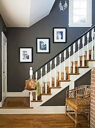 Image Color Grey And White Staircase Great Idea For When My Husband Agrees With Me About Opening The Stairs To The Upstair Pinterest Grey And White Staircase Great Idea For When My Husband Agrees With
