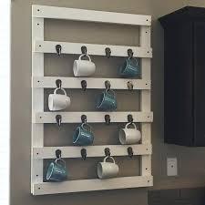 wall mounted mug rack coffee mug storage wall mounted mug drying rack