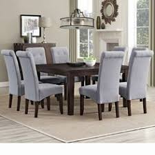 simpli home eastwood 9 piece dining set chair finish dove gray antique dining room sets