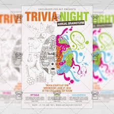 Trivia Night Community A5 Flyer Template