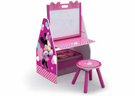 disney minnie mouse 20 art desk with stool and toy organizer