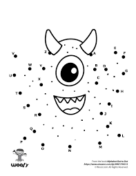 connect the dot alphabet. Fine Connect Cute Monster Dot To And Connect The Alphabet