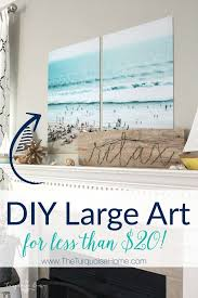 diy large art for less than 20 using color engineering prints on large inexpensive wall art diy with color engineer prints diy large art on a budget pinterest