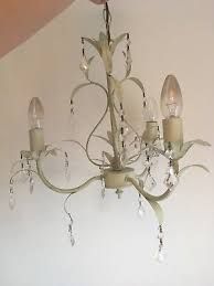 laura ashley cream and crystal 3 bulb chandelier