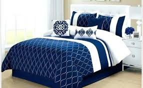 blue and white comforter navy sets stripe queen red twin set com