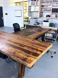reclaimed wood office. Reclaimed Wood Office Desk And A